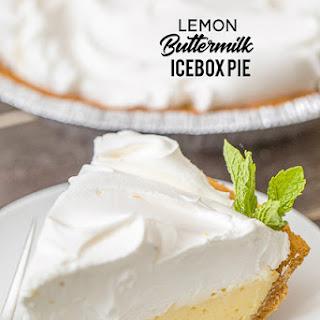 Lemon Buttermilk Icebox Pie.