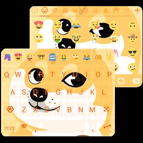 Funny Puppy Emoji Keyboard