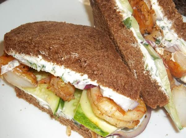 Shrimp And Cucumber Sandwich