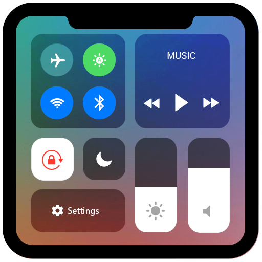 Control Center iOS 11 - Phone X Control Panel file APK for Gaming PC/PS3/PS4 Smart TV