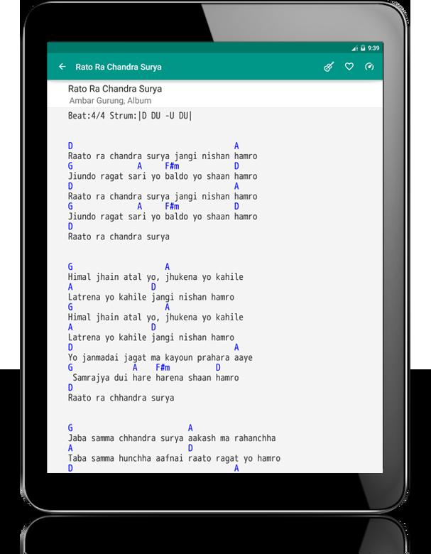 Lyrics & Chords : Nepali - Apl Android di Google Play