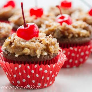 German's Chocolate Cupcakes