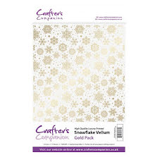 Crafters Companion Snowflake Vellum A4 15/Pkg - Gold