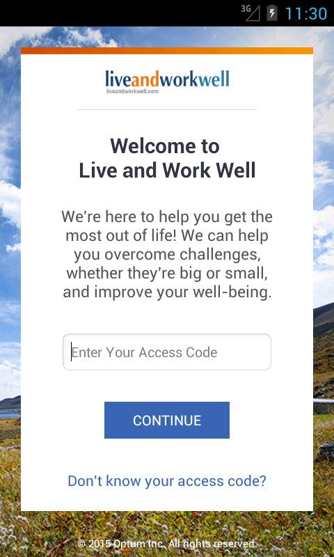 myLiveandworkwell- screenshot