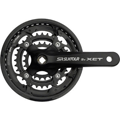 SR Suntour XCT Jr. Crankset: 9-speed 44/32/22t Thumb