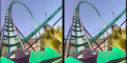 VR Thrills: Roller Coaster 360 (Cardboard Game) 2.1.7 screenshots 3