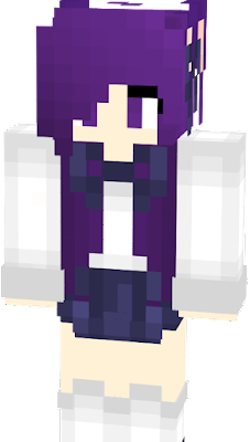 Here is Nightshade! A Purple haired wolf girl prepared for school! Hope you like it! :P -SaffhireFox