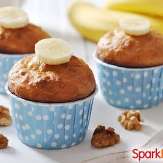 Low-Sugar Chai-Spiced Banana-Nut Muffins.