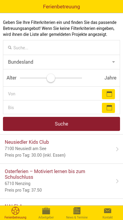 FamilyApp – Screenshot