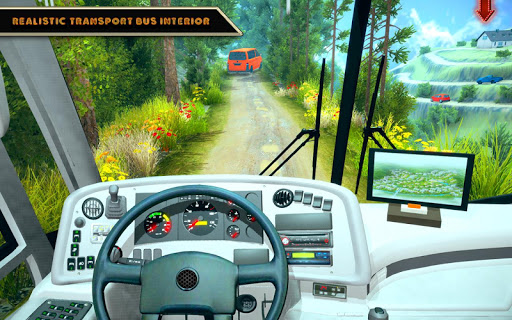 offroad bus driving simulator 2019: mountain bus screenshot 1