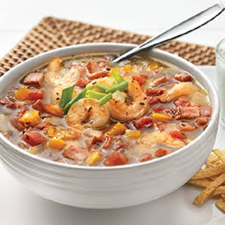 Slow Cooker Bean and Shrimp Chowder.