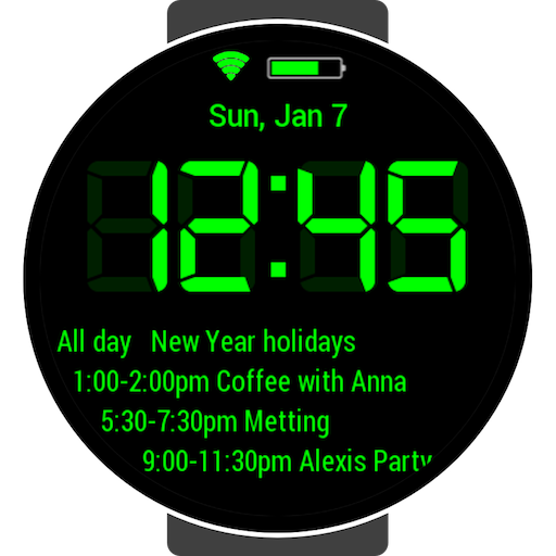 Calendar Digital for Samsung Watch Icon