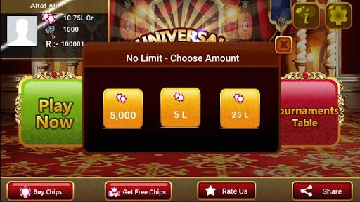 Universal Teen Patti - Indian Poker Game  captures d'u00e9cran 17