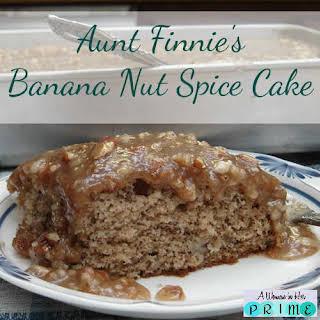 Aunt Finnie's Banana Nut Spice Cake.