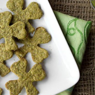 Sneaky Shamrock Spinach Crackers.