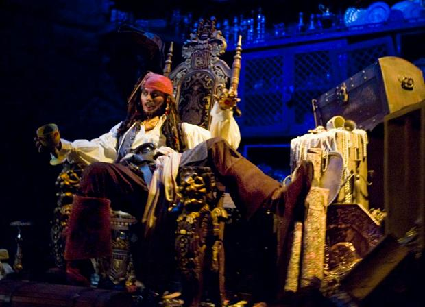 Johnny Depp's Jack Sparrow has found a prominent spot in the updated Pirates of the Caribbean. Photo: Bruce Chambers.