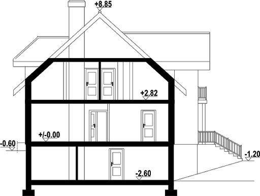 Brzozów 7 - Przekrój