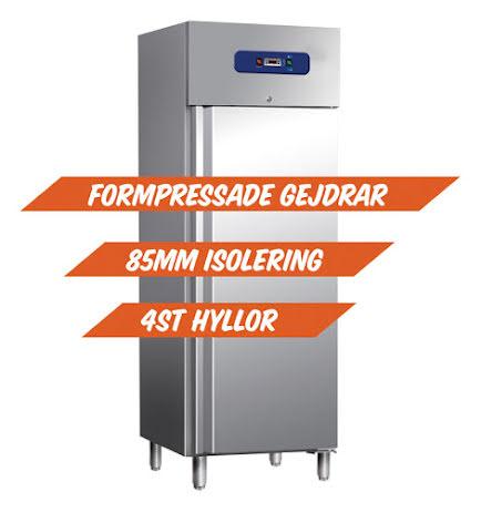Kylskåp 700 liter rostfritt GN 2/1<Br> formpressade gejdrar; Mastro