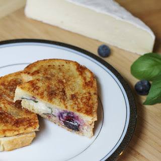 Blueberry Brie Grill Cheese.