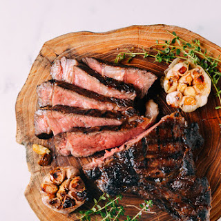 Grilled Ribeye With Soy Butter Glaze