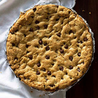 One Giant Soft and Chewy Chocolate Chip Cookie.