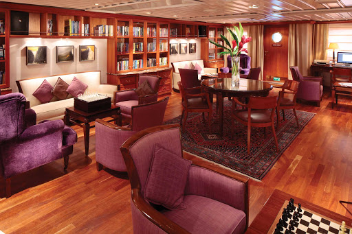 SeaDream-library.jpg - Settle in with a good book or a lively conversation on a SeaDream cruise.