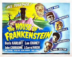 """Photo: Exemplo de """"Crossover"""": a mistura de monstros no filme da Universal """"A Mansão de Frankenstein"""" (1944). http://filmesclassicos.podbean.com"""
