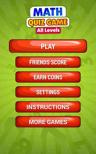 Math All Levels Quiz Game Screenshot