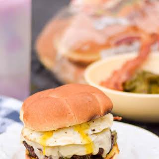 Breakfast for Dinner Burger.