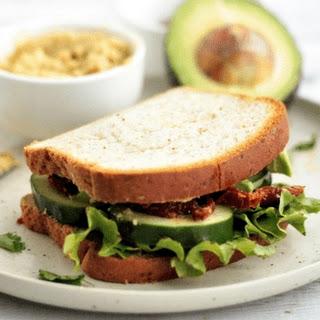 Sun-Dried Tomato & Hummus Sandwich (V+GF) Recipe