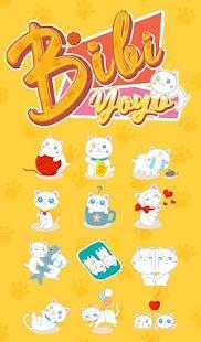 Bibi & Yoyo Cat TouchPal Keyboard Sticker - náhled
