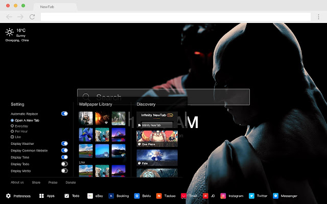 Batman New Tab HD Popular DC Themes