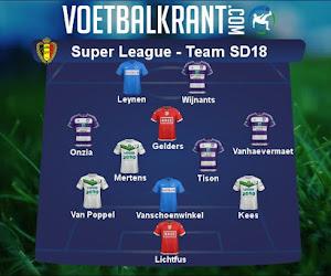 Ons team van speeldag 18 in de Super League ziet er als volgt uit