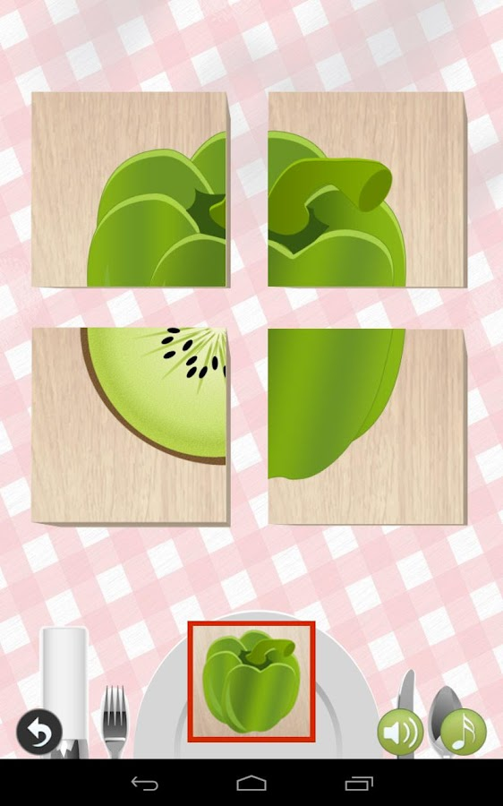 Food Blocks game for Kids - screenshot
