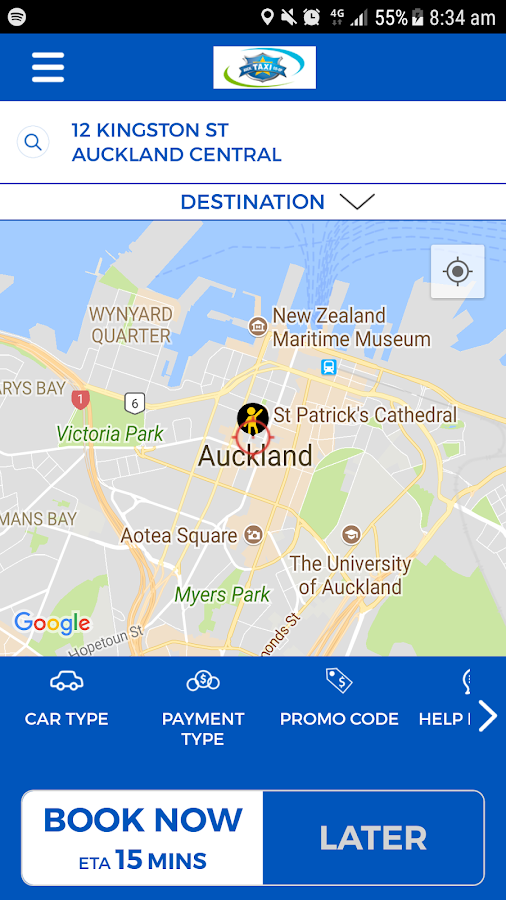 Auckland Coop Taxis- screenshot