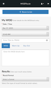 WODTrackr- screenshot thumbnail