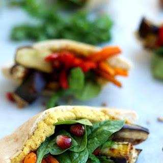 Pita Pockets with Roasted Veggies and Hummus Recipe