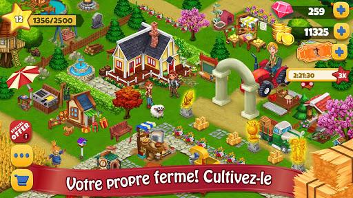 Jour Farm Village: Agriculture Jeux hors ligne  captures d'écran 1