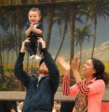 Photo: Wilbur Schwab makes his debut as the Official Baby of the festival (his parents Shivella and Spencer met at our festival several years ago)