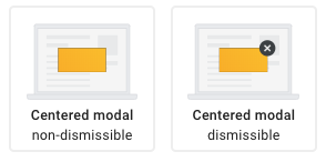 Consent message display types