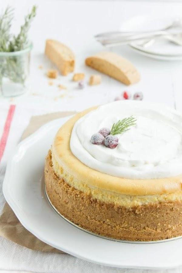 Eggnog Biscotti Cheesecake Recipe