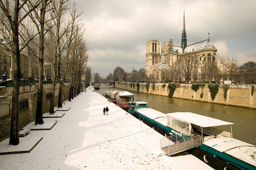 snow-paris.jpg - A snowy Paris landscape is a reminder that visiting Paris in winter can be magical.