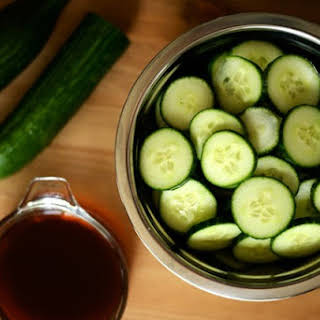 Japanese Soy Vinegar Pickled Cucumbers.