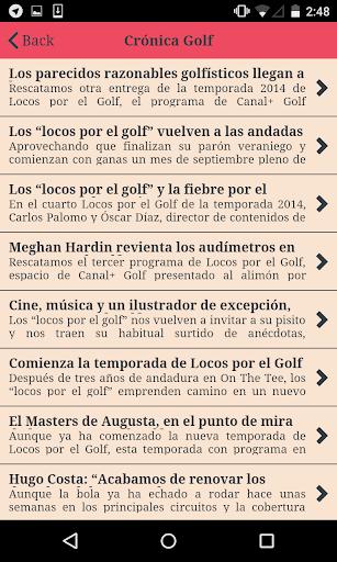 Noticas de Golf