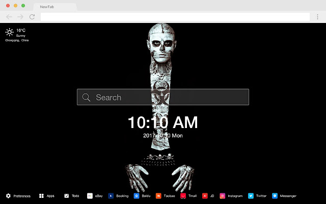 Zombie New Tab HD Wallpapers Pop Horror Theme