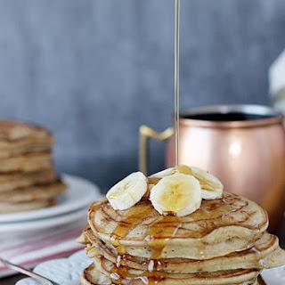 Healthier Peanut Butter Pancakes