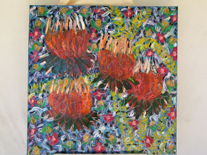 Photo: Utterly Proteas 90cmx90cm $300