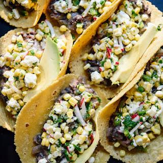 Sweet Corn and Black Bean Tacos.