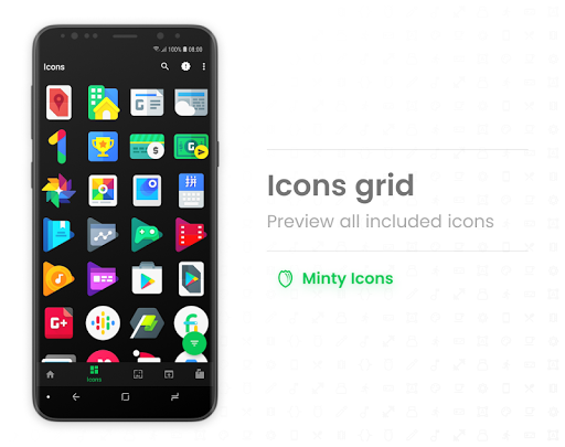 Screenshot for Minty Icons Pro in Hong Kong Play Store