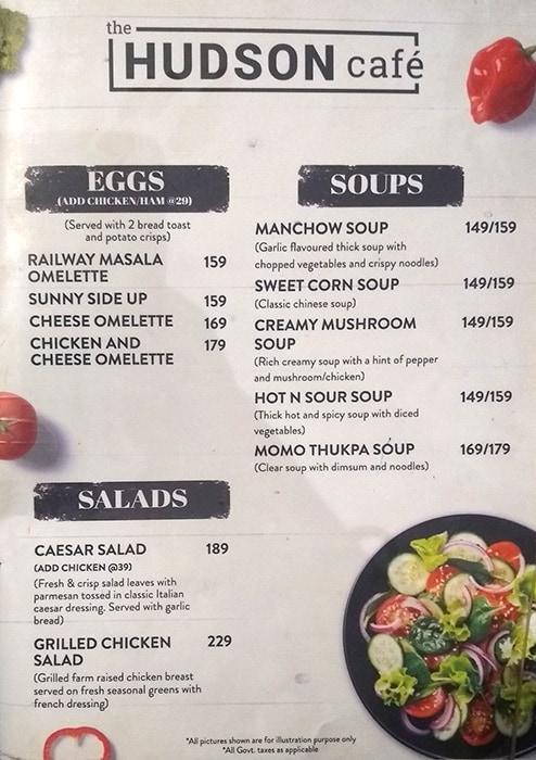 Hudson Cafe menu 8
